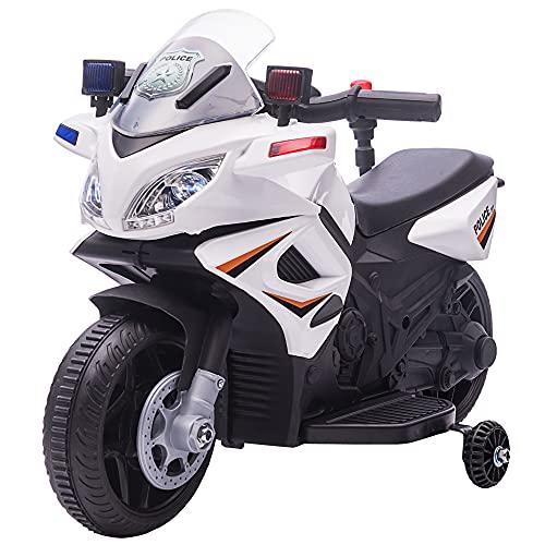 HOMCOM Kinder Polizei Elektromotorrad Polizeimotorrad Elektroauto...