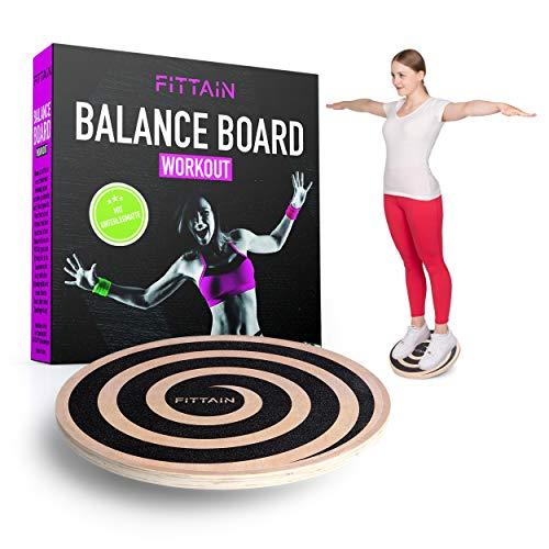 FITTAIN® Praktisches Balanceboard Set – Wackelbrett mit Unterlegmatte –...
