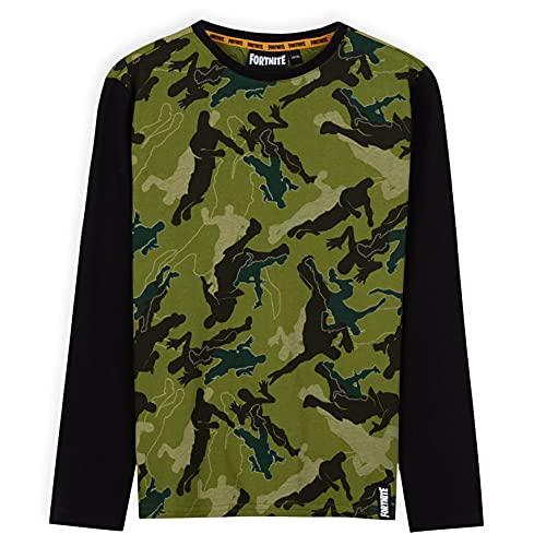 Fortnite Langarmshirt Jungen, T Shirt Jungs Camouflage, Gaming...