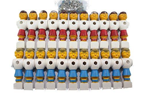 Wagner Automaten Kickerfiguren Champion 22 Stück Komplett mit Schrauben und Muttern