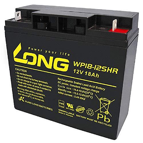Akku 18Ah 12V AGM Blei Batterie Rasenmäher Rasentraktor Aufsitzmäher Boot Scooter...
