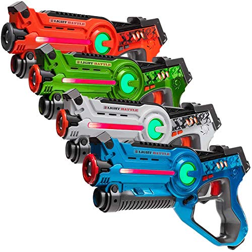 Light Battle Active Lasertag Set - 4X Laserpistole (grün,...