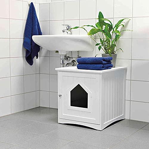 Trixie 40290 Katzenhaus für Katzentoilette, 49 × 51 × 51 cm,...