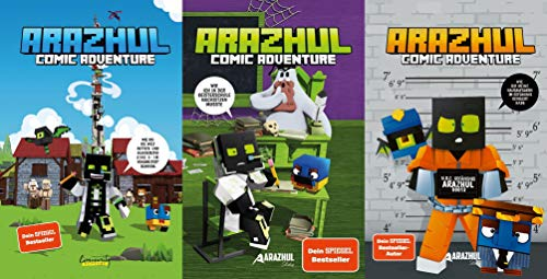 3 Arazhul-Comic-Adventures im Set + 1 exklusives Postkartenset