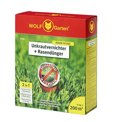 WOLF-Garten - 2-in-1: Unkrautvernichter plus Rasendünger SQ 200;...