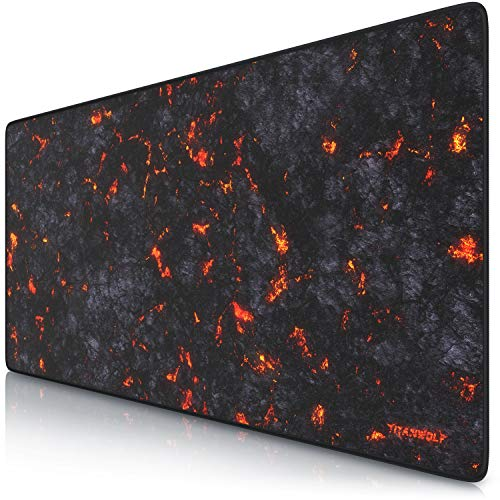 CSL - XXL Speed Gaming Mauspad Titanwolf Lava 900 x 400mm - XXL Mousepad - Tischunterlage Large...