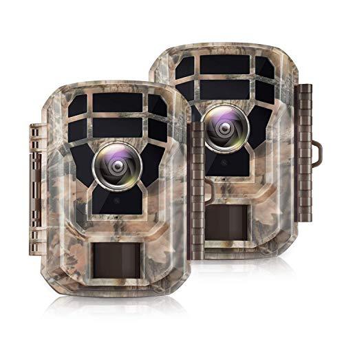 Campark Mini Wildkamera 12MP 1080P HD mit Bewegungsmelder...