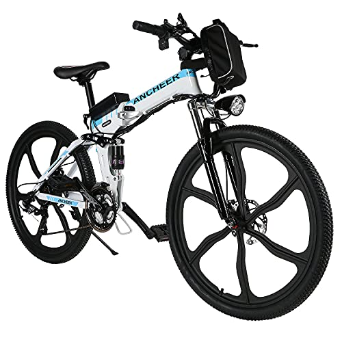 ANCHEER 26' klappbares E-Bike, Elektrofahrrad, Faltbares Pedelec...