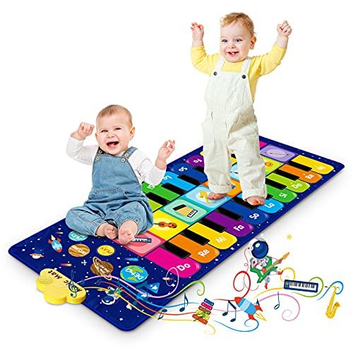 Klaviermatte für Kinder, Tanzmatte Musikmatte mit 8 Instrumenten...