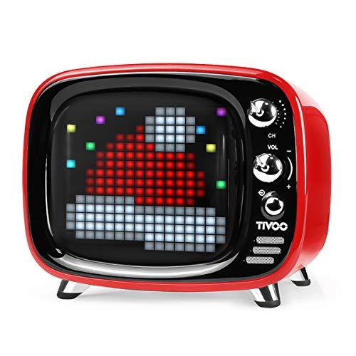 Divoom Tivoo Retro Bluetooth Lautsprecher - Pixel Art DIY Box,...