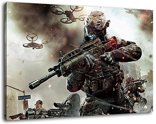 Call of Duty Format 120x80 cm Bild auf Leinwand, XXL riesige...