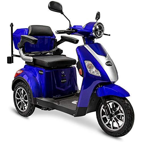 Rolektro E-Trike 25 V.3 Pro Dreirad Blau - 1000W Elektroroller -...