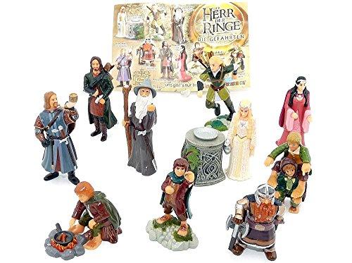 Kinder Überraschung, Alle 10 Figuren von Herr der Ringe I mit...