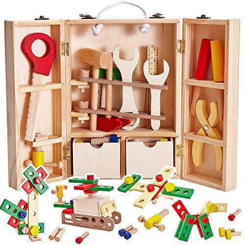 Buyger Kinder Holz-Werkzeugkoffer