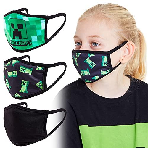 Minecraft Mundschutz Kinder, Mundschutz Maske Jungen und Mädchen...