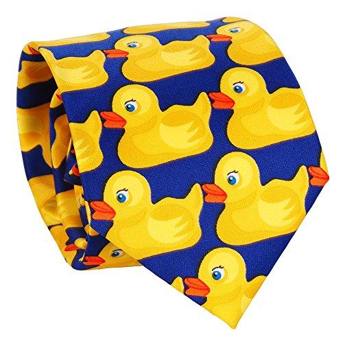 SHIPITNOW Entchenkrawatte Blau und Gelb - Enten Krawatte -...