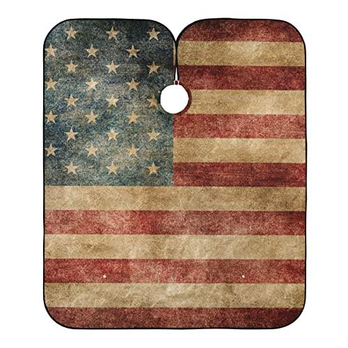 Vintage Amerikanische Flagge Wasserdicht Haarschneideumhang für...