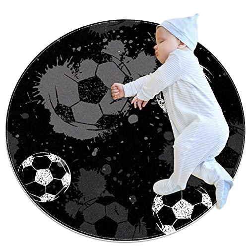 Fußball, runde Bodenmatte, weich, rund, für Wohnzimmer,...