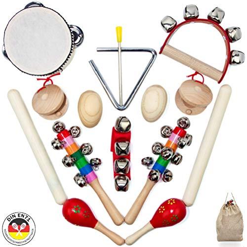 SCHMETTERLINE® Musikinstrumente-Set für Kinder aus Holz - 15...