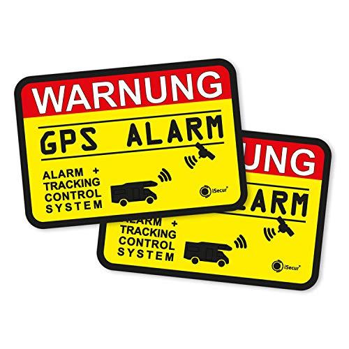 iSecur 2er Set Hinweis-Aufkleber GPS Alarm Tracking System I 6 x...