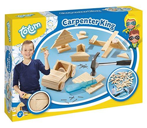 Totum TO025042 Hammerspiel Carpenter King- Zimmermann-Set: mit...