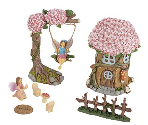 Miniatur-Feengarten-Set, skurriles Gartendekorationen, 8-teilig