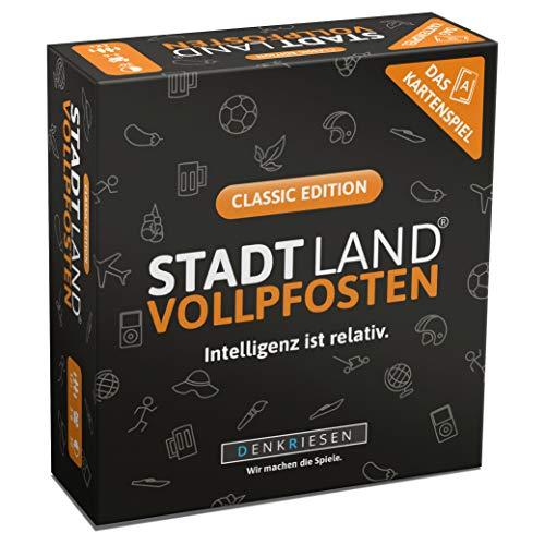 DENKRIESEN - Stadt Land VOLLPFOSTEN - Das Kartenspiel - Classic...