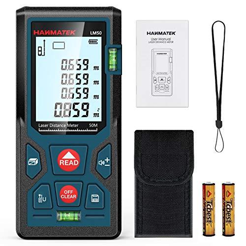 Entfernungsmesser, HANMATEK LM50 50M Digitales Laser...