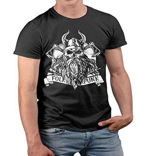 Nuts Shirts Valhalla Viking Beard Skull The Vikings T Shirt...