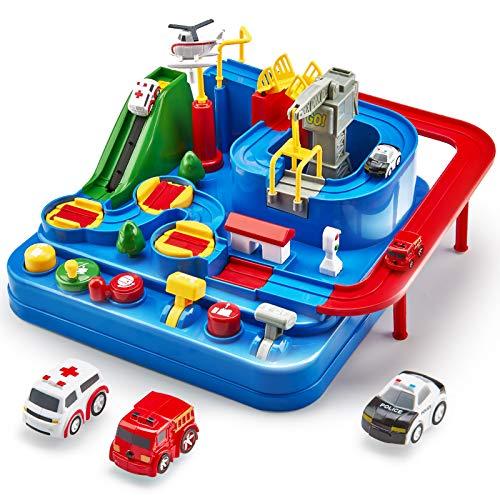 Auto Spielzeug ab 3 4 5 6 Jahre, Track Cars Spielzeug für Kinder...