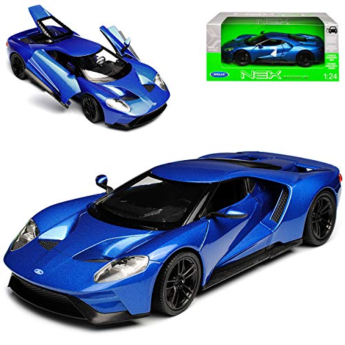 Welly Ford GT Coupe Blau Ab 2017 1/24 Modell Auto
