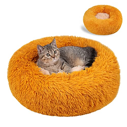 Nyescasa Katzenbett Rund Donut Hundebett Kissen Fluffy Plüsch...