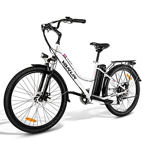 VARUN E-Bike Damen Herren 26 Zoll Elektrofahrräder Shimano 7...