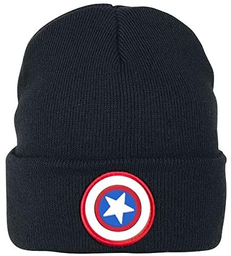 Captain america Logo Unisex Mütze schwarz one Size