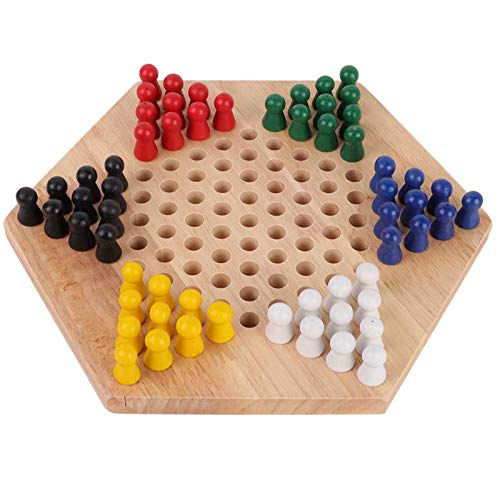 Chinese Checkers, Kids Checkers, Wooden Educational Board Kinder...