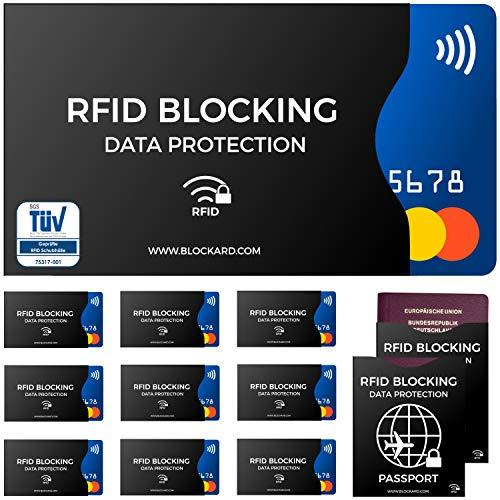 TÜV geprüfte RFID Blocking NFC Schutzhüllen (12 Stück) für...