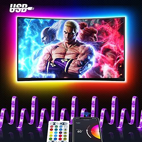 Smart LED Strip 3M, Maxcio USB TV Hintergrundbeleuchtung LED...