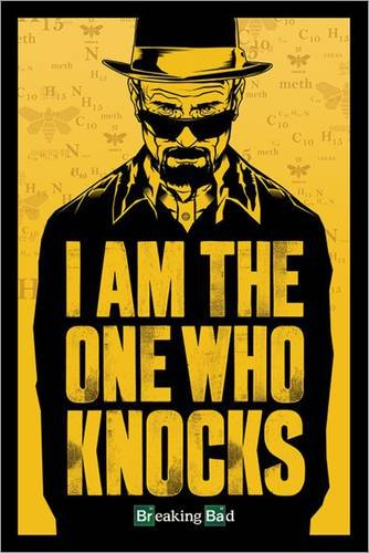 Poster 61 x 91.5 cm - 'Breaking Bad - I am the one who knocks'