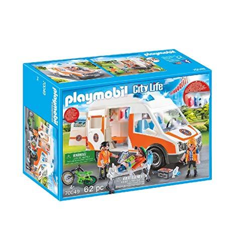 Playmobil City Life 70049 Rettungswagen mit Licht und Sound, Ab 4 Jahren