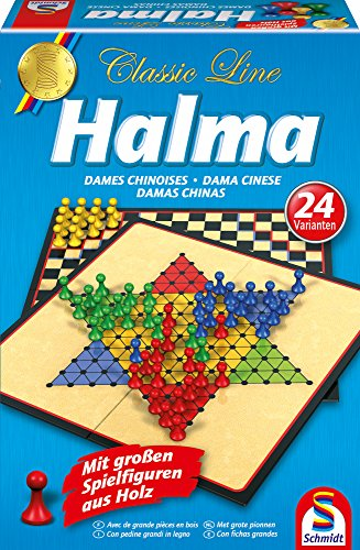 Schmidt Spiele 49217 Classic Line, Halma, mit großen...