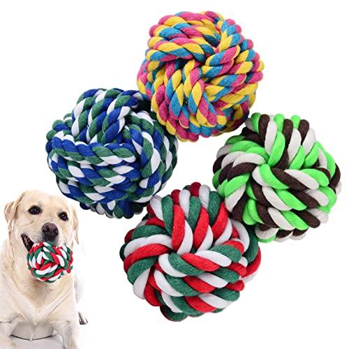 LAMTWEK Hundeball, 4Stück-Hundespielzeug Ball zum Werfen,...