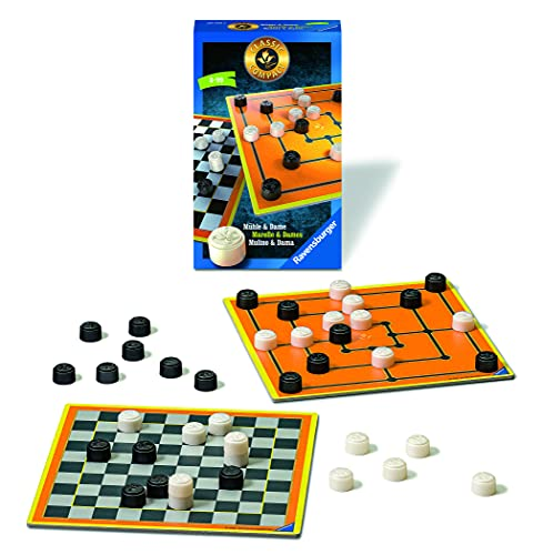 Ravensburger 20545 - Classic Compact: Mühle & Dame,...