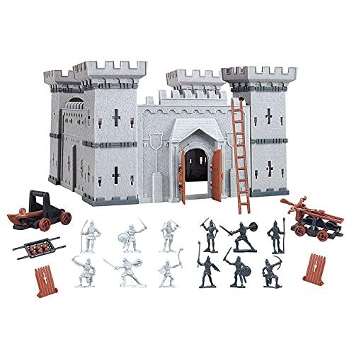 Coole, kleine Ritterburg mit Spielfiguren Königreich Burg...