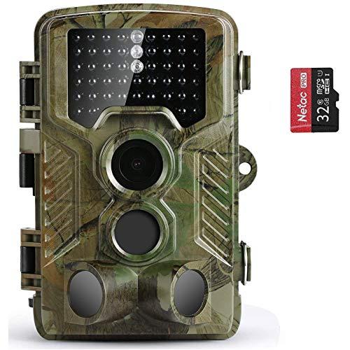 COOLIFE Wildkamera Fotofalle 21MP 1080P HD Jagdkamera Nachtsicht...