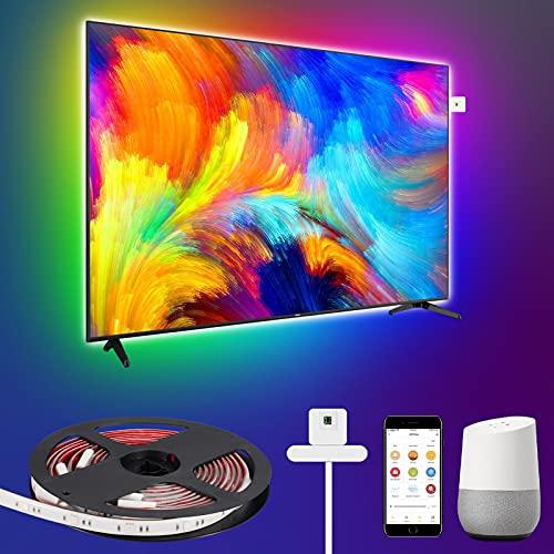 WiFi LED TV Hintergrundbeleuchtung mit Farbsensor USB, LEOEU IP65...