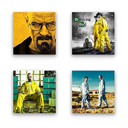 Breaking Bad Bilder Set A, Wandbilder mehrteilig, 4-TLG....