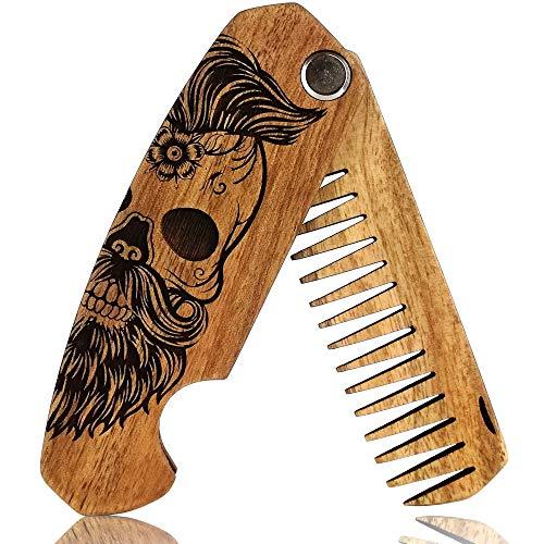 Bartkamm Holz Klappbar Taschenkamm klappkamm antistatische...