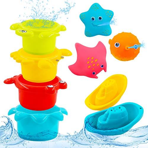 PHYLES Badewannenspielzeug , Buntes Badespielzeug, mit 3 Arten...
