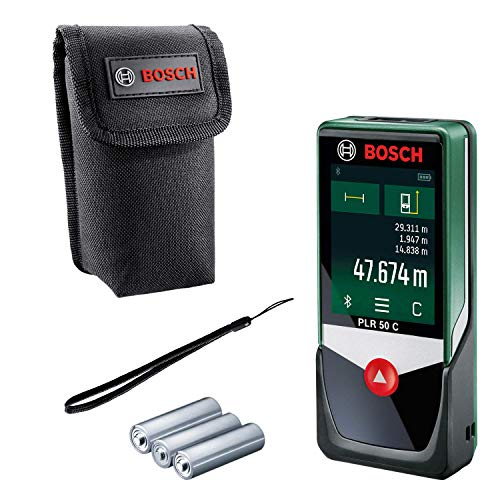Bosch Laser Entfernungsmesser PLR 50 C (Messbereich: 0,05 – 50...