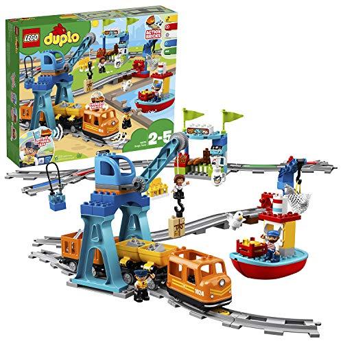 """LEGO 10875 DUPLO Güterzug, """"Push & Go""""-Lok mit Lichtern und Geräuschen,..."""